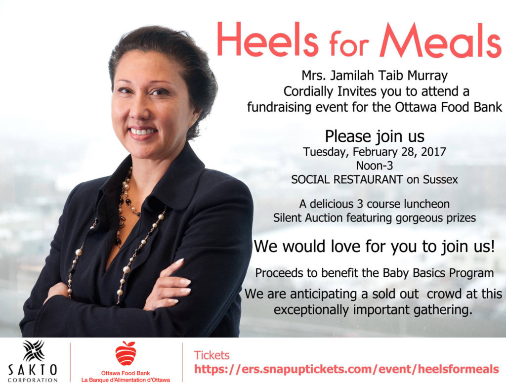 Heels for Meals to support crucial Baby Basics needs - Ottawa Food Bank