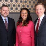 Ottawa Food Bank executive director with Jamilah Taib Murray and Sean Murray of Sakto Corporation (photo credit: Ashley Fraser)