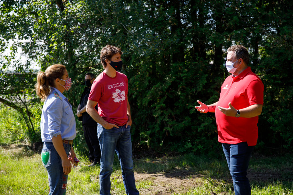 Prime Minister Trudeau, Sophie and the kids pick broccoli at the Ottawa Foodbank's farm in Stittsville, followed by media interviews and a live appearance on the Canada Day broadcast. July 1, 2020.