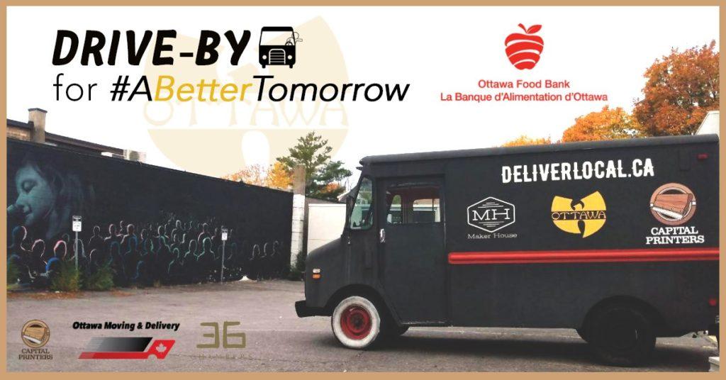 drive by abettertomorrow a better tomorrow ottawa food bank event