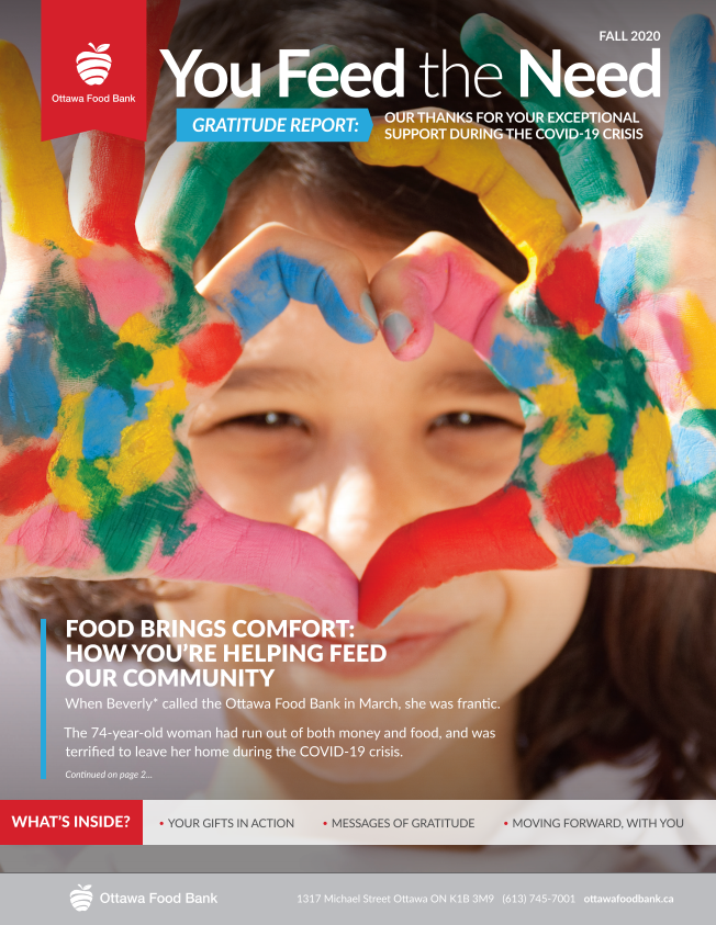 You feed the need fall 2020 newsletter ottawa food bank food insecurity