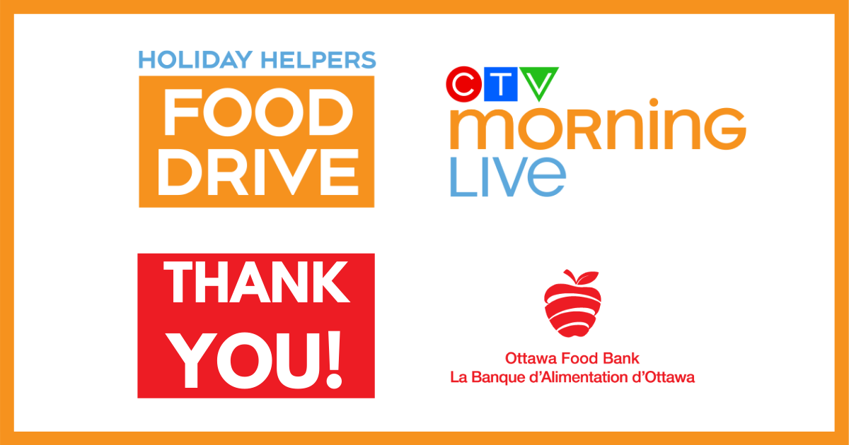 CTV morning live holiday helpers food drive